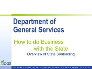Department of  General Services
