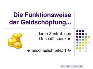 Die Funktionsweise der Geldschöpfung...