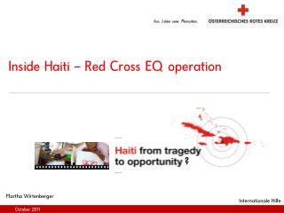 Inside Haiti – Red Cross EQ operation