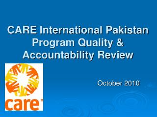 CARE International Pakistan Program Quality &  Accountability Review