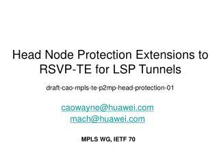 caowayne@huawei mach@huawei MPLS WG, IETF 70
