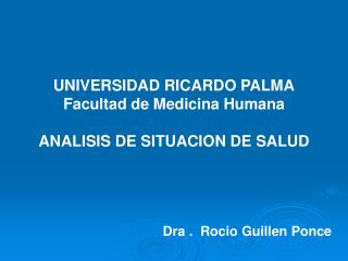 Dra .  Rocio Guillen Ponce
