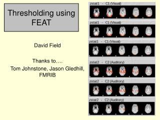 Thresholding using FEAT