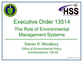 Executive Order 13514 The Role of Environmental Management Systems