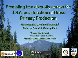Predicting tree diversity across the U.S.A. as a function of Gross Primary Production