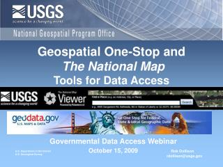 Governmental Data Access Webinar October 15, 2009