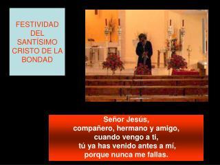 FESTIVIDAD DEL SANTÍSIMO CRISTO DE LA BONDAD