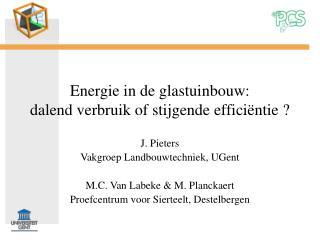 Energie in de glastuinbouw: dalend verbruik of stijgende efficiëntie ?