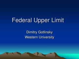 Federal Upper Limit