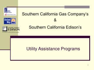 Utility Assistance Programs