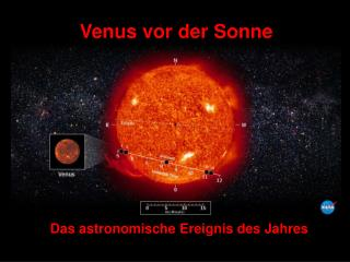 Venus vor der Sonne