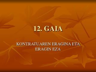 12. GAIA