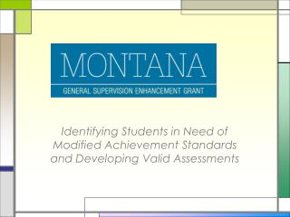 Identifying Students in Need of Modified Achievement Standards and Developing Valid Assessments
