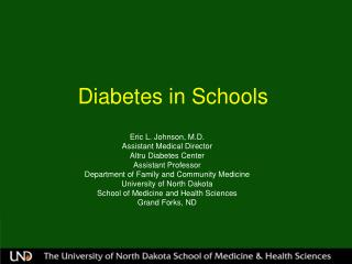 Diabetes in Schools