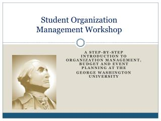 Student Organization Management Workshop