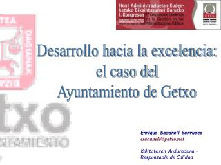 Desarrollo hacia la excelencia: el caso del Ayuntamiento de Getxo