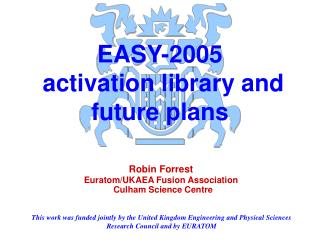 EASY-2005  activation library and future plans