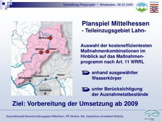 Vorstellung Pilotprojekt  •  Wiesbaden, 08.02.2005
