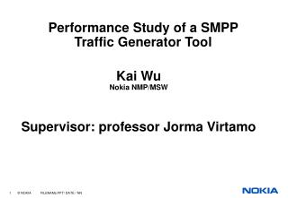 Performance Study of a SMPP  Traffic Generator Tool