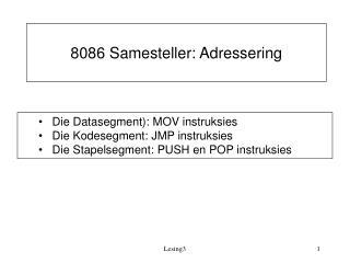 8086 Samesteller: Adressering