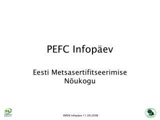 PEFC Infopäev