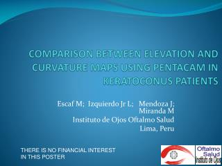 COMPARISON BETWEEN ELEVATION AND CURVATURE MAPS USING PENTACAM IN KERATOCONUS PATIENTS
