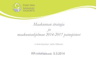 RR-infotilaisuus  5.3.2014