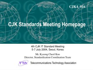 CJK Standards Meeting Homepage