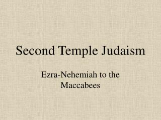 Second Temple Judaism
