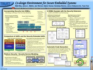 Co-design Environment for Secure Embedded Systems