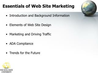 Essentials of Web Site Marketing