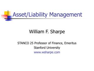 Asset/Liability Management
