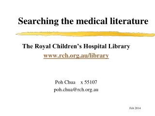 Searching the medical literature