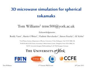 3D microwave simulation for spherical tokamaks