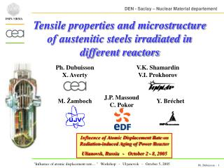 Tensile properties and microstructure of austenitic steels irradiated in different reactors
