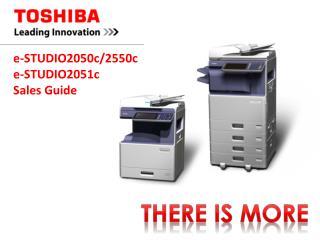 e-STUDIO2050c/2550c  e-STUDIO2051c Sales Guide