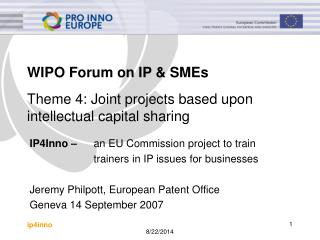 WIPO Forum on IP & SMEs