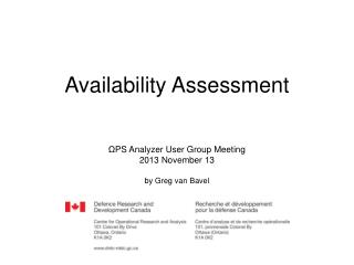 Availability Assessment