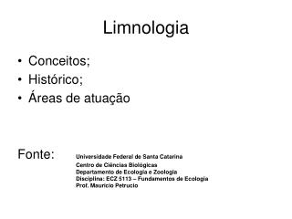 Limnologia