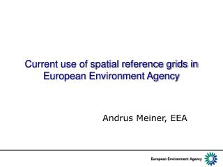 Current use of spatial reference grids in European Environment Agency
