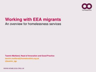 Working with EEA migrants An overview for homelessness services