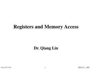Registers and Memory Access