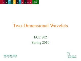 Two-Dimensional Wavelets