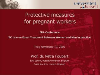 Protective measures  for pregnant workers