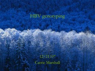 HBV genotyping