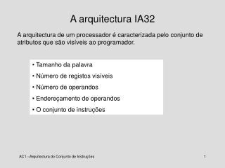 A arquitectura IA32