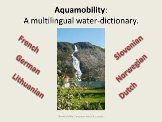 Aquamobility :  A multilingual water-dictionary .