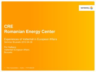 CRE Romanian Energy Center
