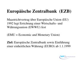 Ziele der EZB