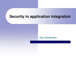 Security in application integration